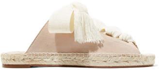 Chloé Harper Lace-up Suede Sandals - Pastel pink
