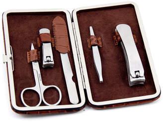 Bey-Berk Leather 5Pc Men's Grooming Set