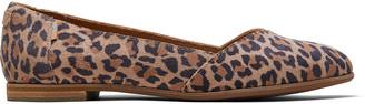 Desert Tan Leopard Print Suede Women's Julie Flats