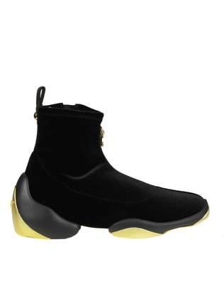 Giuseppe Zanotti Design Women's Rw80004001 Velvet Slip On Sneakers