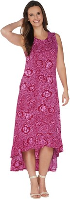 Kelly By Clinton Kelly Kelly by Clinton Kelly Petite Knit Maxi Dress w/ Ruffle Hem