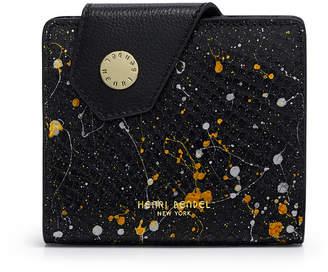 Henri Bendel Divine Mini Splatter Paint Snake Snap Wallet