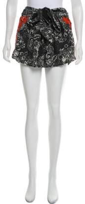 Isabel Marant Embroidered Mini Shorts black Embroidered Mini Shorts