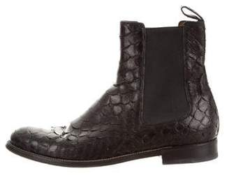 Gucci Snakeskin Chelsea Boots