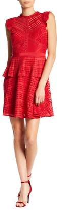 Adelyn Rae Maeve Lace Fit & Flare Dress