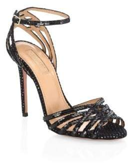Aquazzura Sequin Trim Studio Sandals