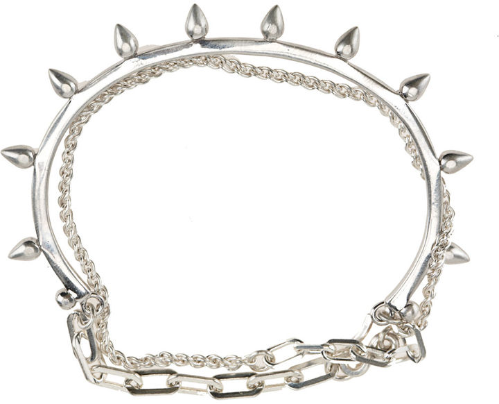 Bing Bang by Anna Sheffield Rivet Wrap Chain Bracelet