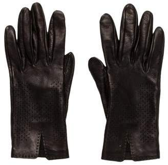 Hermes Hit Perforated Lambskin Gloves