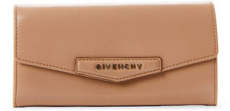 Givenchy Beige Flap Continental Leather Wallet