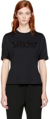 Fendi Black Embellished MCMXXV T-Shirt