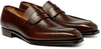 George Cleverley George Full-Grain Leather Penny Loafers