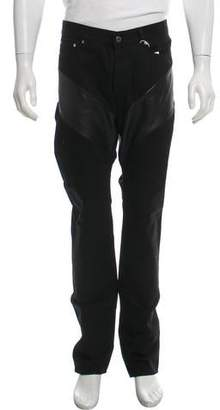 Givenchy Leather-Trimmed Skinny Jeans w/ Tags