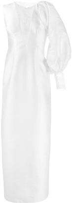 Parlor empire line evening dress