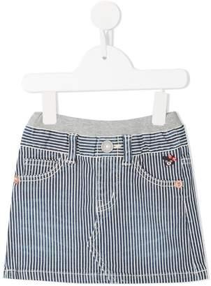 Mikihouse Miki House striped denim skirt