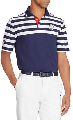 "Ralph Lauren Men's ""Wednesday"" USA Ryder Cup Striped French-Knit Golf Polo Shirt"