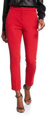 Pinko Flat-Front Straight Suit Pants
