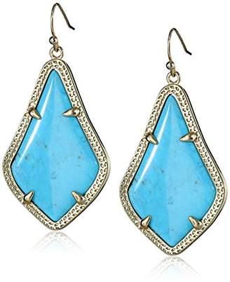 "Kendra Scott Signature"" Alex Gold plated Turquoise Magnesite Drop Earrings"