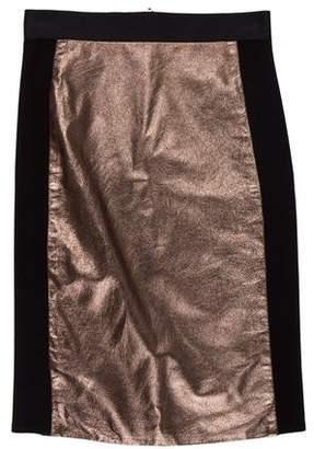 Mason Leather Pencil Skirt