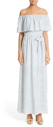 Women's Alice + Olivia Grazi Off The Shoulder Maxi Dress $330 thestylecure.com