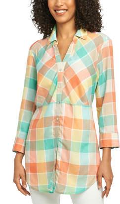 Foxcroft Linen-Blend Tunic