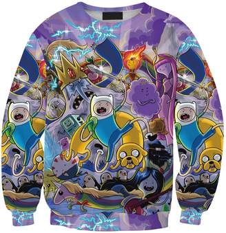 Lady Queen Women's Adventure Time 3d Print Roll Neck Pullover Sweatshirt Size M