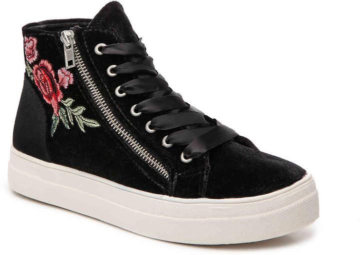 bebe Women's Valora Velvet High-Top Sneaker