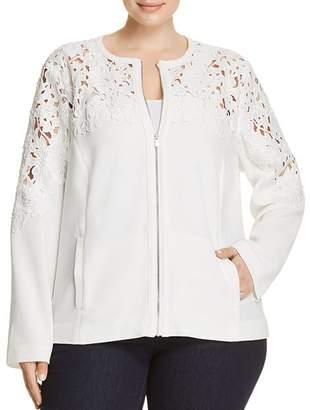 Bagatelle Plus Crochet Panel Jacket
