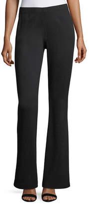 St. John Kasia Milano Knit Flare-Leg Pants