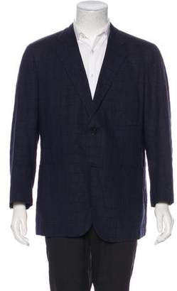 Belvest Seersucker Windowpane Blazer