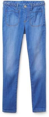 Gap Superdenim Braid-Belt Super Skinny Jeans with Fantastiflex