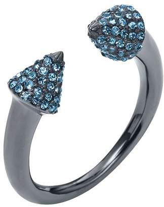 Michael Kors Pave Gunmetal-Tone Arrow Ring