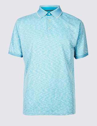 Marks and Spencer Modal Rich Textured Polo Shirt