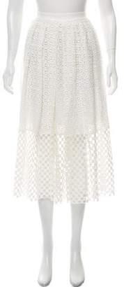 Tibi Crochet Midi Skirt