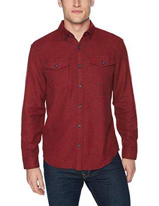 Original Penguin Men's Long Sleeve Jaspe Button Down Shirt