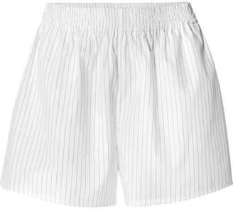MM6 MAISON MARGIELA Striped Cotton-poplin Shorts - White
