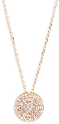 Suzanne Kalan Women's White Sapphire and 14K Rose Gold Pendant Necklace