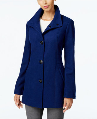 INC International Concepts Stand-Collar Peacoat, Only at Macy's $195 thestylecure.com
