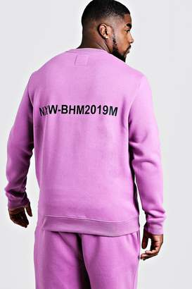 Big & Tall MAN Branded Sweater With Back Print