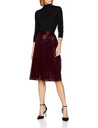 Esprit Women's 118eo1d003 Skirt, (Bordeaux Red 600), Small