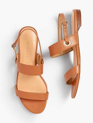 Talbots Keri Double Strap Sandals - Soft Nappa
