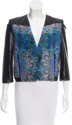 Helmut LangHelmut Lang Patterned Leather Jacket w/ Tags