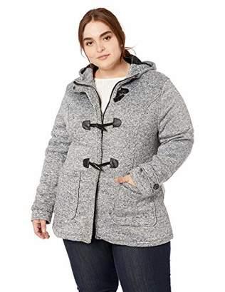 801dd9fa482 Yoki Women s Plus Size Toggle Fleece Jacket