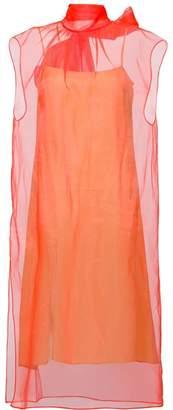 Prada organza bow dress