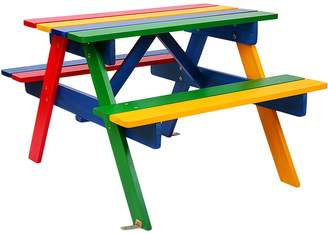 Big Fun Club Raffie Kids' Picnic Bench, Rainbow