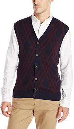 Haggar Men's Exploded Argyle Button-Front Vest