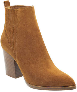 Marc Fisher Alva Suede Pleated Chelsea Booties