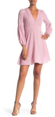 Free Press Deep V-Neck Dress
