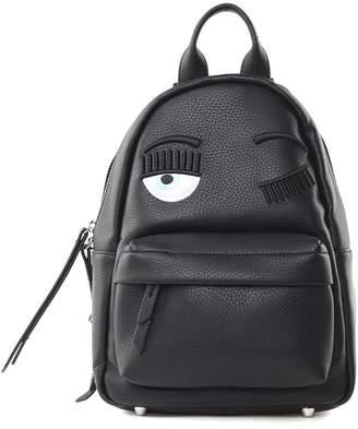 Chiara Ferragni Flirting Eye Faux-leather Small Backpack