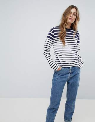 Asos DESIGN Boxy Top in Cutabout Stripe