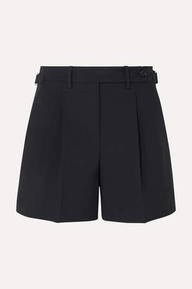 RED Valentino Pleated Gabardine Shorts - Midnight blue